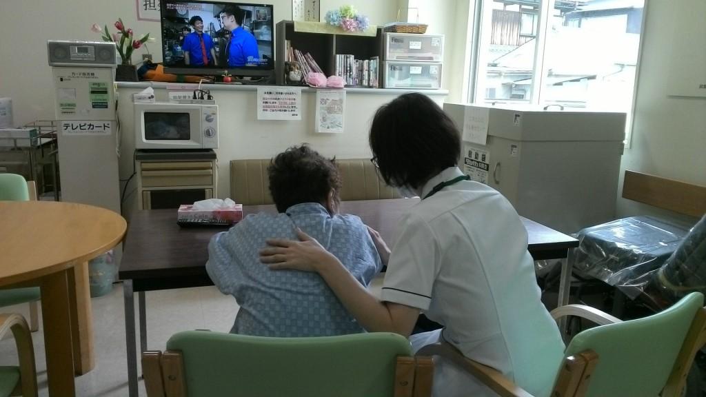 入院患者様との対応の様子